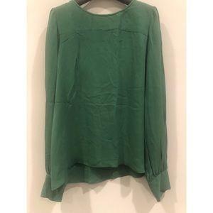 J. Crew Emerald Green Silk Blouse